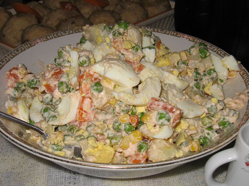 olivier salad russian salad or salade russe also known as salade ...